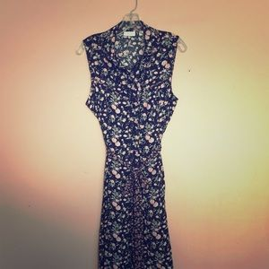 New York and Company black floral maxi dress
